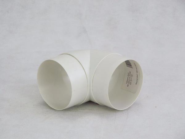 100mm 90deg Bend - Round VKC300 Plastic Ducting - Preservation Shop
