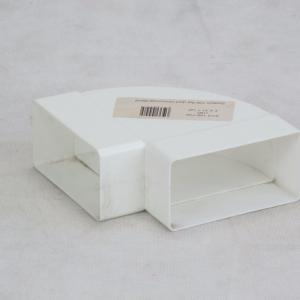 100mm 90deg Flat Bend Horizontal Plastic Ducting - Preservation Shop