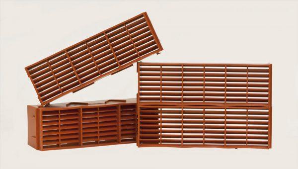 Airbrick 9 x 3 Plastic Terracotta- Preservation Shop