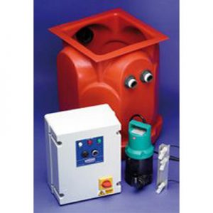 Aqua Pump Pro. Sump unit with installed Battery Backup system - Preservation Shop