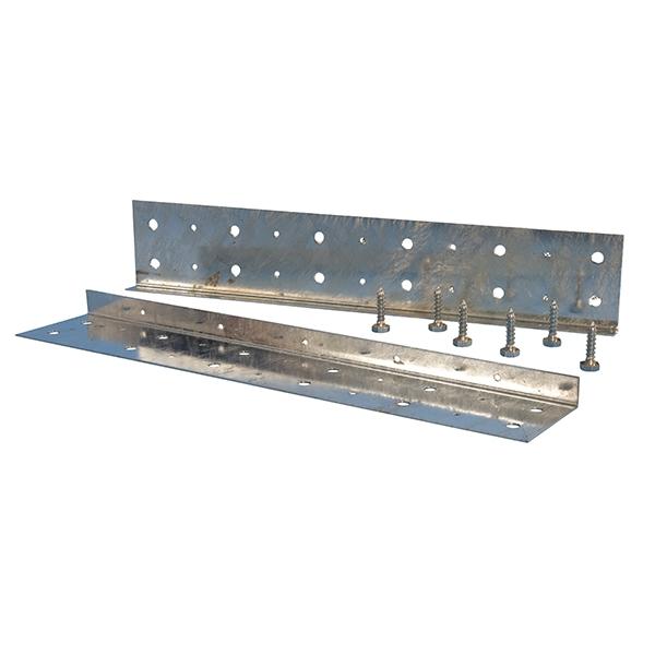 Steel Angled Bower Beam Plate Set - Preservation Shop