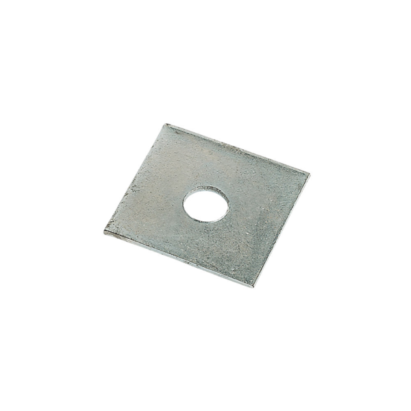 Square Plate Steel Washers - 10 Pack