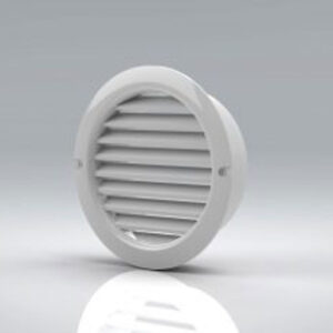 100mm Round Louvred Grille With Flyscreen - VKC256