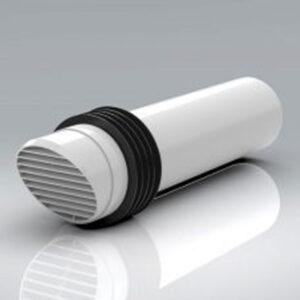 100mm High Rise Ventilator White - VVK200