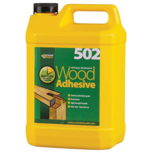 Everbuild 502 Weather Proof Wood Adhesive - 5L