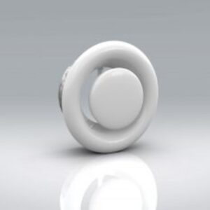 White Powder-Coated Metal Ceiling Extract Valve - MW104
