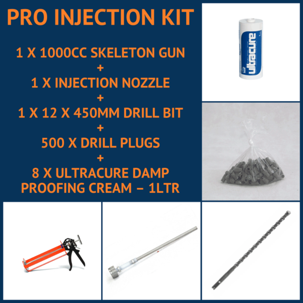 Pro Damp Proofing Cream Injection Kit
